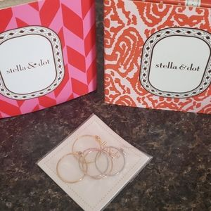 Stella and Dot Moraley Flower Stackable Rings.